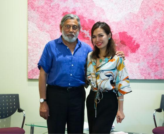 Huyen Truong With Dr Chandran Arianayagam Marketing For Plastic Surgeons
